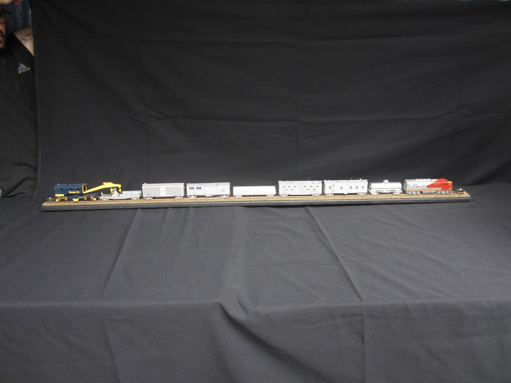 Photo of 2nd Place MOW work train with crane