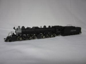 Photo of scratchbuilt 2-8-8-0 #3299 first in ATSF steam loco category