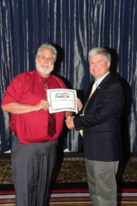 Society President presents President's Award for Technical Excellence to Mike Brusky