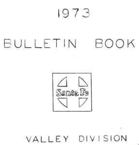 Valley Division Bulletin 1973