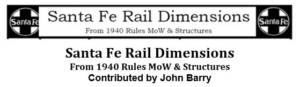 Santa Fe Rail Dimensions from 1940 Rules - Maintainence of Way and Structures
