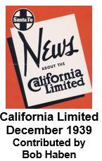 Advertising Brochure - California Limited; December 1939 (Bob Haben)