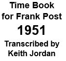 Time Book of Frank Post - 1951