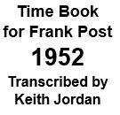 Time Book of Frank Post - 1952