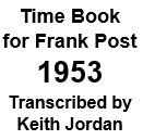 Time Book of Frank Post - 1953
