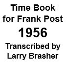 Time Book of Frank Post - 1956