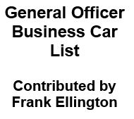 General Officer Business Car List