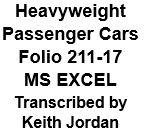 Heavyweight Pasenger Car Folio 211-17 (Excel)