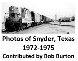Photos of Snyder, Texas: 1972 - 1975
