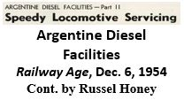 Argentine Diesel Facilities from Railwat Age magazine - 1954