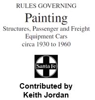 Painting Structures, Passenger and Freight Equipment Cars circa 1930 to 1960