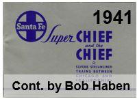 Advertising Brochure - Super Chief; 1941 (Bob Haben)