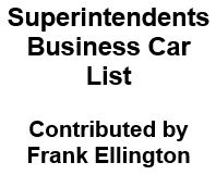 Superintendent's Business Car List