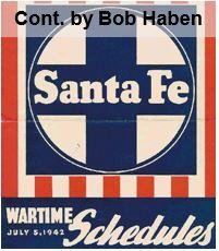 Santa Fe Wartime Schedules