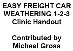 Easy Freight Car Weathering 1-2-3 Clinic Handout