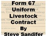 Form 67 Recular - Live Stock Contract - 1941