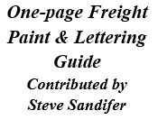 One-page Freight Paint and Lettering Guide