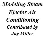 Modeling Steam Ejector Air Conditioning