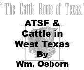 Santa Fe and Cattle in West Texas