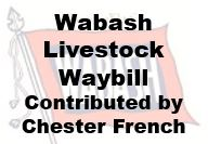 Wabash Livestock Waybill