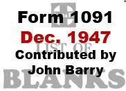 Form 1091 - December 1947