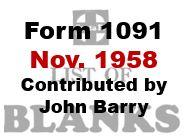 Form 1091 - November 1958