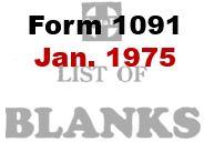 Form 1091 - January 1955