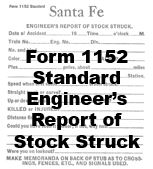 Form 1152 Standard - Engineer's Report of Stock Struck