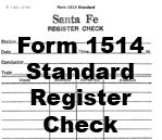 Form 1514 Standard - Register Check