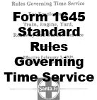 Form 1645 Standard - Rules Governing Train Service