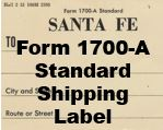 Form 1700-A Standard - Shipping Label