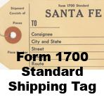 Form 1700 Standard - Shhipping Tag
