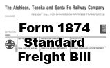 Form 1874 Standard - Freight Bill