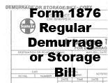 Form 1876 Regular - Demurrage or Storage Bill