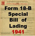 Form 18-B Special - Bill of Lading 1941