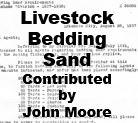 Livestock Bedding Sand (John Moore)