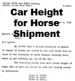 Cra Height for Horse Shipment