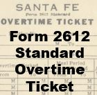 Form 2612 Standard - Overtime Ticket
