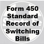 Form 450 Standard - Record of Switching Bills