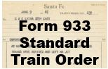 Form 933 Standard - Train Order