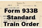 Form 933B Standard - Train Order