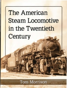 Image of steam locomotive on book cover