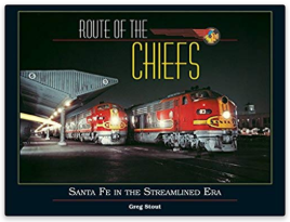 Photo of Santa Fe engines on book cover