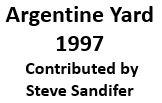 Map of Argentine Yard - 1997 (BNSF)