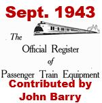 Official Register of Passenger Train Equipment - September 1943