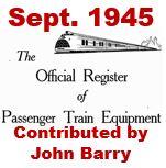 Official Register of Passenger Train Equipment - September 1945