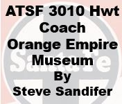 Santa Fe 3010 Heavyweight Coach at Orange Empire Museum