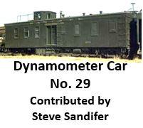 Dynamometer Car Number 29