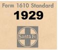 Form 1610 Standard - List of Numbers Assigned to Stations - 1929