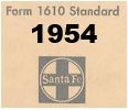 Form 1610 Standard - List of Numbers Assigned to Stations - 1954